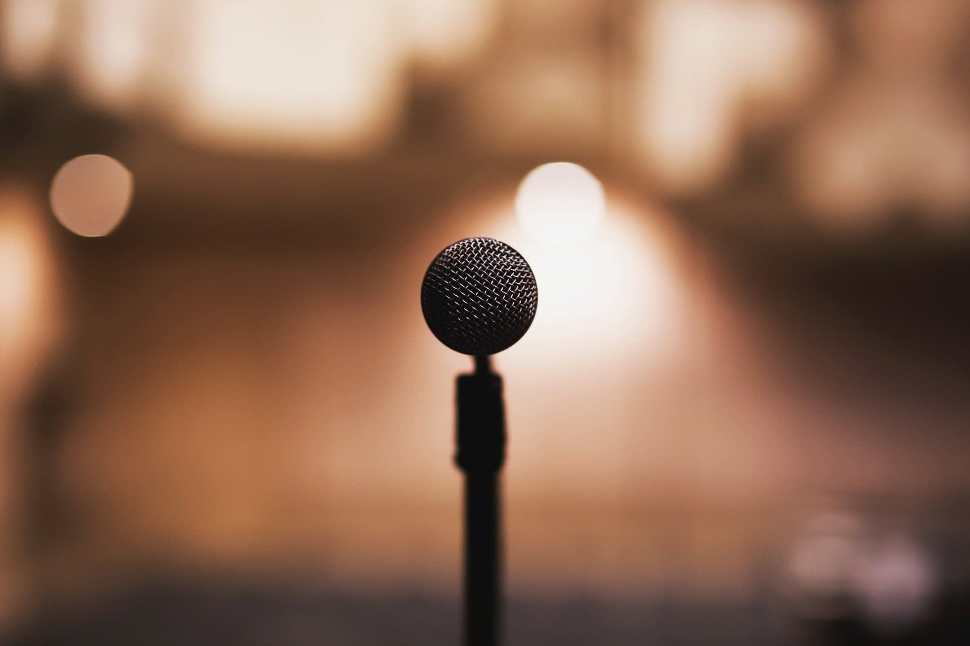 Microphone for presentation